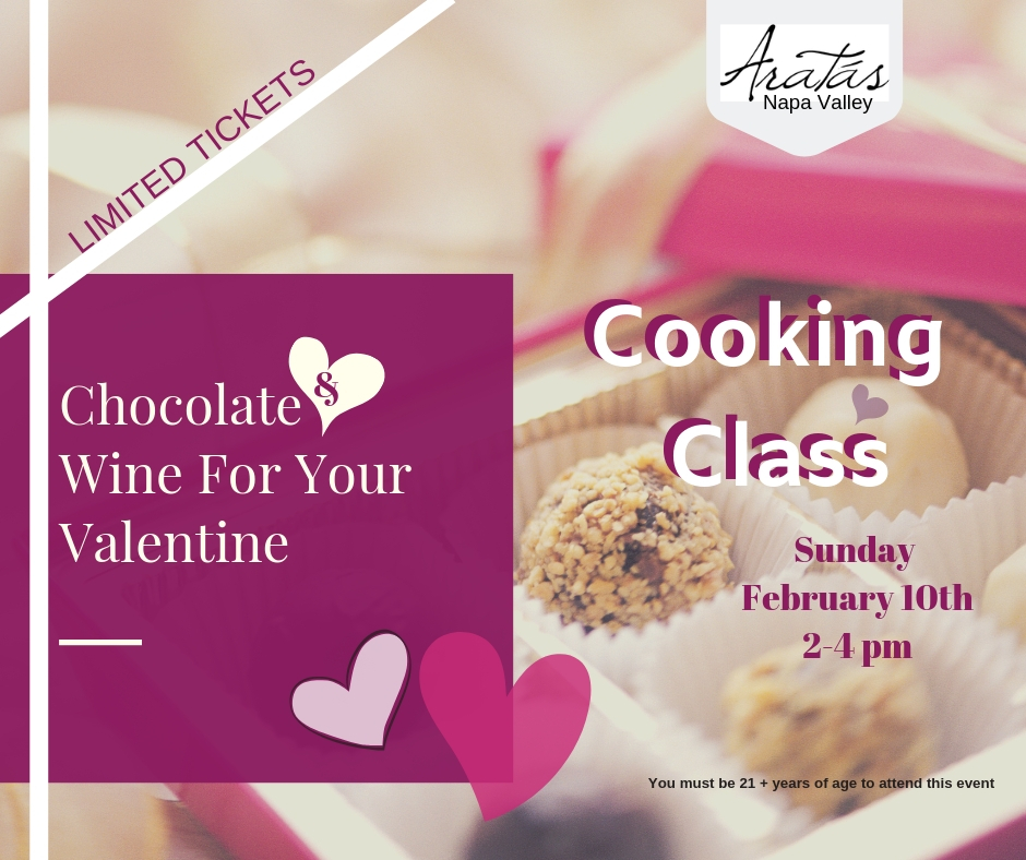 Chocolate and Aratas Wine for your Valentine- Truffle making Class