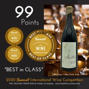 "Sunset Wine Awards Aratas ""Best in Class"""